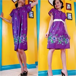 Sassy Vtg purple nightgrown/dress